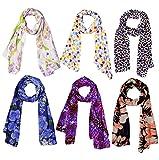 Scarves (Weavers Villa Set Combo of 6 Scarves Soft PolyCotton Fashion Trendy Women
