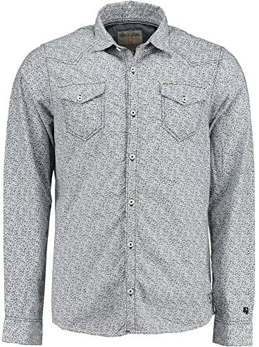 Garcia - Chemise casual - Manches Longues - Homme Bleu - marine 70