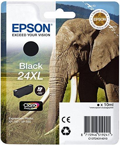 Epson Original T2431 Tintenpatrone Elefant XL, Singlepack schwarz - Kompatible Tintenpatrone Photo