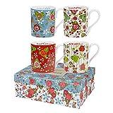 """Julie Dodsworth """"Vintage Floral Larch Giftset Mug, Multi-Colour, 250 ml"""