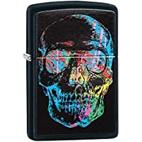 Zippo Skulls Windproof Lighter - Black Matte