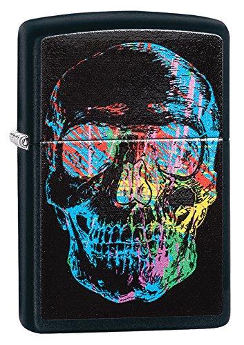 Zippo 28042 - Accendino X-Ray Skull, colore: Nero opaco
