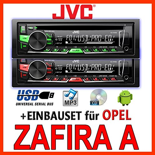 JVC KD-R469E - CD/MP3/USB Autoradio - Einbauset für Opel Zafira A - JUST SOUND best choice for caraudio
