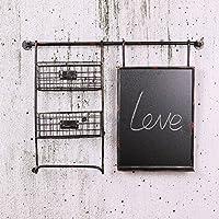 Weiche Dekorationen_retro Industrial style Rack Loft Bar wall Soft kreative Wand, Retro schwarz