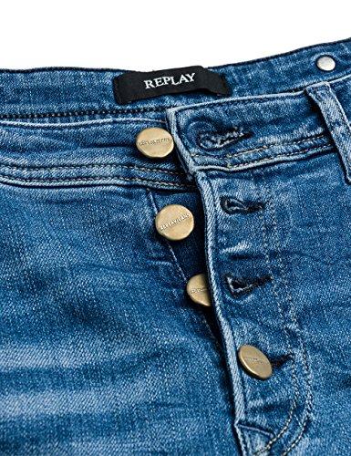 Replay Women's Pilar Women's Blue Boyfriend Jeans Blue
