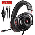 EKSA E900 Gaming Headset Xbox One Headset with 7.1 Surround Sound, PS4 Headset Noise Cancelling Over Ear Headphones with...