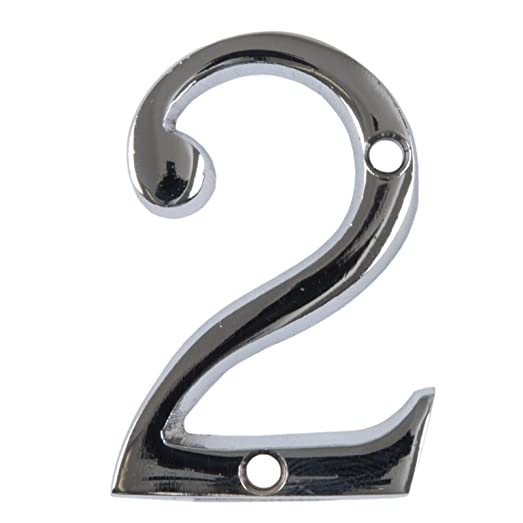 2  Chrome House Number Front Door Buildings Numeral Numbers Back Door Porch  New  Amazon co uk  Kitchen   Home. 2  Chrome House Number Front Door Buildings Numeral Numbers Back