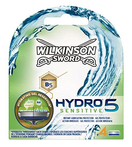 Wilkinson Sword Hydro 5 Sensitive - Recambio de Cuchillas de Afeitar de 5  Hojas para Hombres a4b5d77de5af