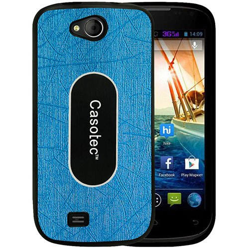 Casotec Metal Back TPU Back Case Cover for Micromax Canvas Elanza A93 - Sky Blue  available at amazon for Rs.319