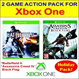 Two Game Action Pack for X-Box One: Battlefield 4 and Assassins Creed IV: Black Flag
