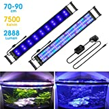 """MAINLICHT Aquarium Light with RGB and Blue LED for 27""""-35"""" Fish Tank Full"""