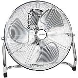 STIER Ventilator, 145 W, Bodenventilator in Metall-Optik, Durchmesser 50 cm, 3 Ventilationsstufen, für Innen- und Außen geeignet
