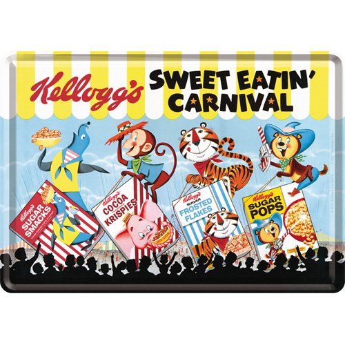 kelloggs-sweet-eatin-carnival-4-favourites-mini-sign-metal-postcard-10-x-14-cm-approx