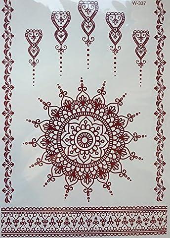 HENNA MARRON Tatouages temporaires au henné Henna pour le corps w-337