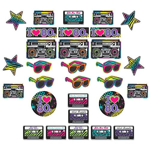 80s Assorted Cutouts Party Accessories Set