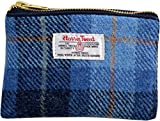Vagabond Bags Harris Tweed Blue Check Cosmetic Bag Kulturtasche, 16 cm, Blau (Mid Blue)