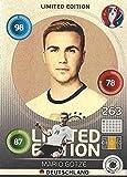 Mario Götze Deutschland Hero Limited Edition Panini Adrenalyn XL EURO 2016 Sammelkarte Tradingcard Karte Card Checkliste