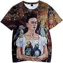SIMYJOY Frida Kahlo Camiseta con Estampado de Unisex Estampado en 3D Camiseta con Estampado de Artista