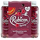 Rubicon Spring Black Cherry Raspberry Flavoured Sparkling Spring Water, 12 x 500 ml