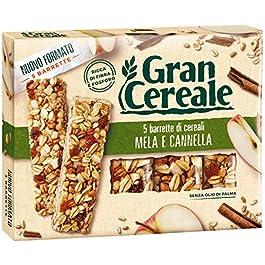 Gran Cereale – Snack Barrette 4 Cereali Mela e Cannella – Colazione e Snack Dolce – 135 gr
