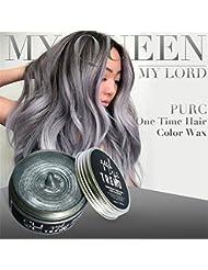 OverDose,Coloration Cheveux Temporaire DIY Hair Wax Clay Colorant Crème Grandma Hair Cendre Colorant Temporaire...