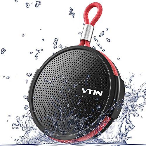 Duschlautsprecher, IPX5 Wasserdichter Bluetooth Lautsprecher VTIN Mini Musikbox Shower Speaker Tragbarer Lautsprecher mit Bluetooth 4.2, Saugnapf, TF-Karte für Badezimmer (Haus & Outdoor)