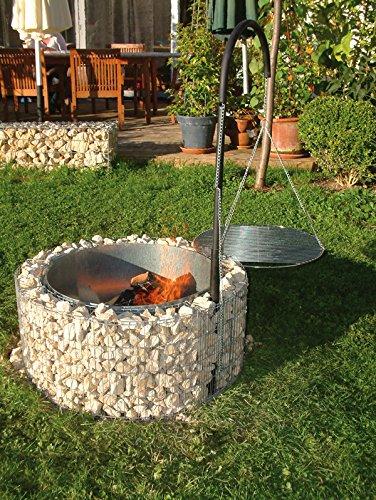 bellissa feuer und grillstelle 92cm inkl kohlenschale grillgalgen gabione grill galgengrill. Black Bedroom Furniture Sets. Home Design Ideas