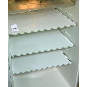 Kuber Industries Refrigerator Drawer Mats/Fridge Mats/Multi Purpose Mats Set of 6 Pcs (White Material- Plastic)