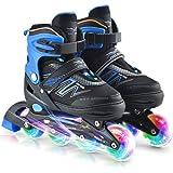 Roeam Inline Skates, verstelbare rollerblades met lichtgevende wielen, voor kinderen, jongens, meisjes, dames