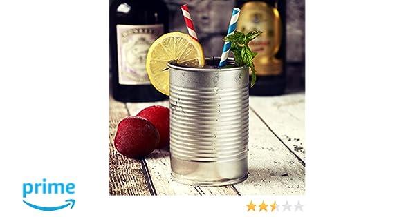 Lampada Barattolo Di Latta : Barattolo di latta per cocktail color argento 280 ml set da 4