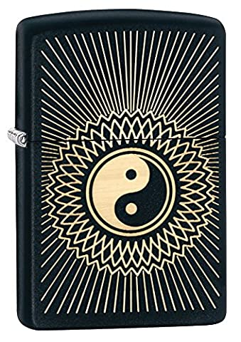 Zippo Yin Yang Windproof Lighter - Black