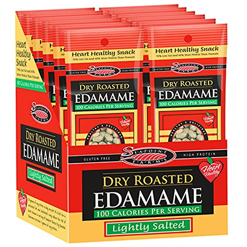 Seapoint Farms, Dry Roasted Edamame, Lightly Salted, 12 Packages, 1.58 oz (45 g) Each Test