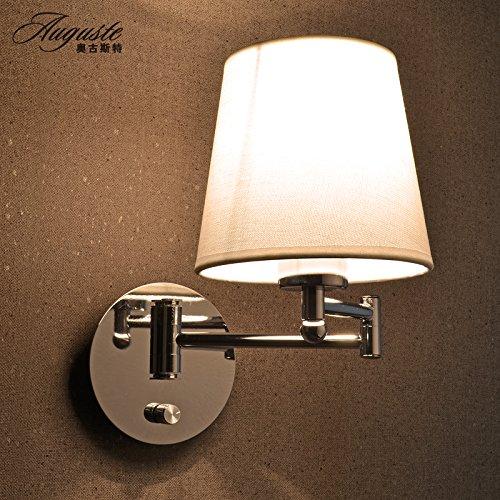semplice lampada da parete a luce del monitor al posto