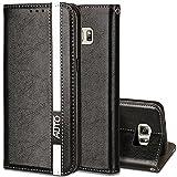 Samsung Galaxy S6 Hülle,Samsung Galaxy S6 Handyhülle,Nnopbeclik Business Stil Wallet Folio Wallet PU Leder Schutzhülle (
