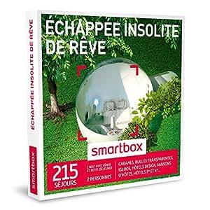 SMARTBOX - Coffret Cadeau - ECHAPPÉE INSOLITE DE RÊVE - 215 séjours : cabanes, bulles transparentes, igloos, hôtels design, maisons d'hôtes, hôtels 3* et 4*