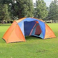 Bazaar Campeggio esterna 2-4 persone tenda doppio strato impermeabile antivento tettuccio parasole con 1 salone 2