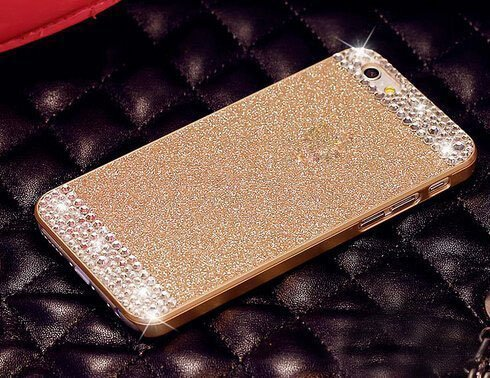 CORST PC Premium Wasser Diamant Bling Luxus Tasche Protection Kristall Strass Case Glitzer Protective For Apple iPhone6/6S-Gold Gold