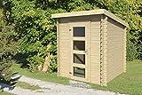 Gartenhaus G240 - 28 mm Blockbohlenhaus, Grundfläche: 3,06 m², Pultdach