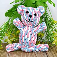Pets Empire Cute Dog Tough Chew Knot Teddy Toy Pet Puppy Healthy Teeth Cotton Rope 1 Piece