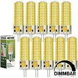 MENGS® 10 Stück Dimmbar G4 LED Lampe 7W AC/DC 12V Kaltweiß 6500K 72x2835 SMD Mit Silikon Mantel