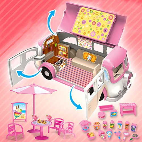 Zantec Giocattolo per bambini di 3+ anni, Camper di plastica sicuro atossico Regalo di compleanno/festa