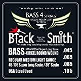 "Smith 45-105 35 Black ""Electric Bass Strings Set of 4"