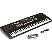 VIZN Electronic Piano Keyboard 61 Keys with LED Display and Microphone and USB Cable
