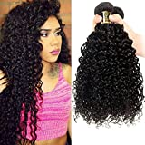 Yavida Meche Bresilienne Lot 8A Tissage Bresiliennes en Lot Cheveux Naturel Boucles Brésilienne Tissage Bouclé Naturel Kinky Cheveux Humains Bouclés 10 12 14 Pouces