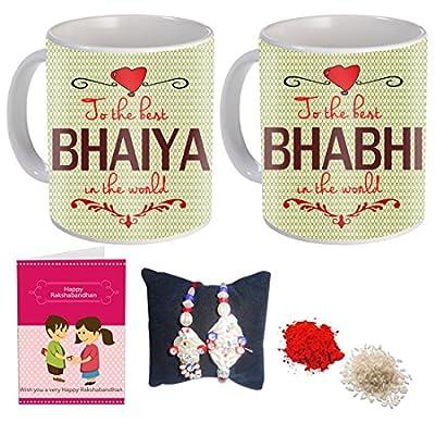 Sky Trends Bhaiya Bhabhi Printed Coffee Mug Best Gift for Rakshabandhan, Birthday and Anniversary St-05