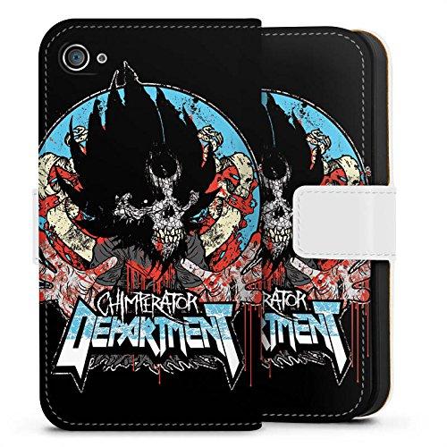 Apple iPhone X Silikon Hülle Case Schutzhülle Chimperator Fanartikel Merchandise Emblem Sideflip Tasche weiß