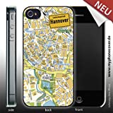 iPhone 4/4S Cover Stadtplan Hannover