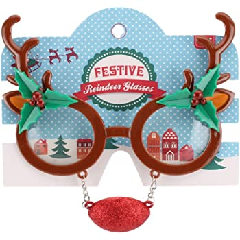 3410ea891e Novelty Reindeer Christmas Glasses - Christmas Office Party Fancy Dress by  Gifts
