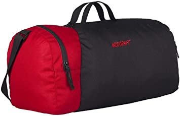 Wildcraft Combat Nova Polyester Black Duffle Bag