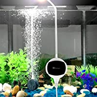 Pompe à air pour aquarium - Chialstar ultra-silencieuse pompe aquarium 3.5W et performant oxygène pompe de 10 à 200L